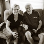 nancy and phil in their RV