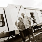 nancy and phil outside the RV